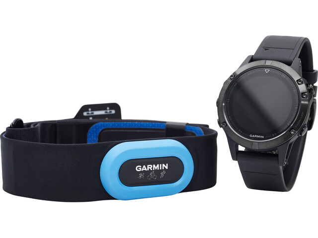 Garmin fenix 5 Saphir GPS Uhr Performer Bundle / Premium HRM-Tri Brustgurt + QuickFit black
